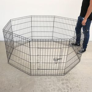 """Photo New $35 Foldable 30"""" Tall x 24"""" Wide x 8-Panel Pet Playpen Dog Crate Metal Fence Exercise Cage Play Pen"""