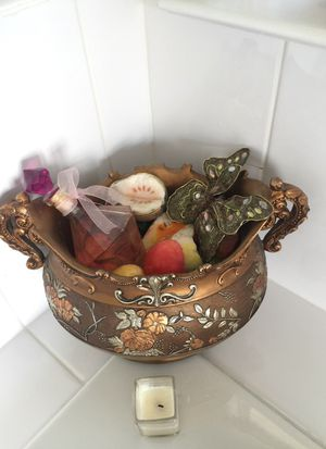 Hand made Urn full of fruit soaps and bath for Sale in Alexandria, VA