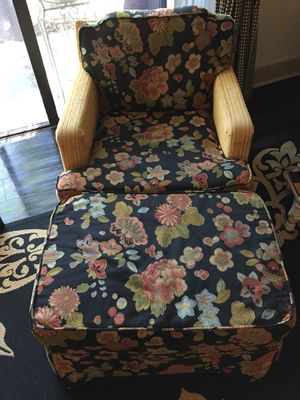 Vintage Chair and Ottoman for Sale in Parkland, FL