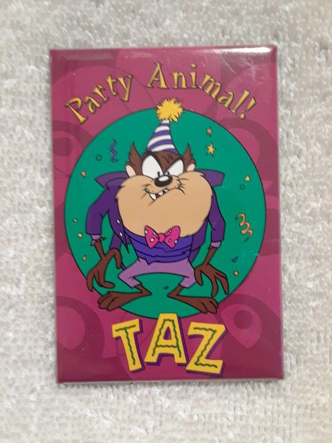 Vintage Looney tunes party animal magnet