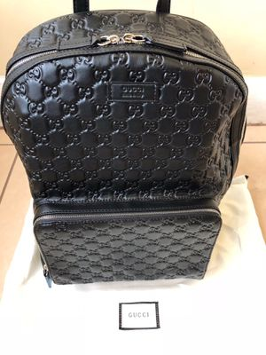 Gucci signature backpack black authentic for Sale in Los Angeles, CA