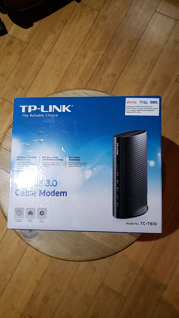 TP-Link DOCSIS 3 0 8x4 Cable Modem TC-7610 for Sale in Lake Forest, CA -  OfferUp