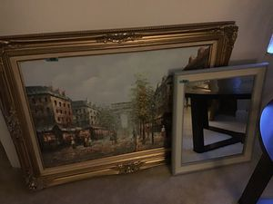 Picture and mirror for Sale in Rockville, MD