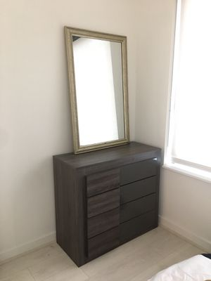 Modern dresser and nightstand set. Mirror and lamp also for sale. for Sale in Washington, DC