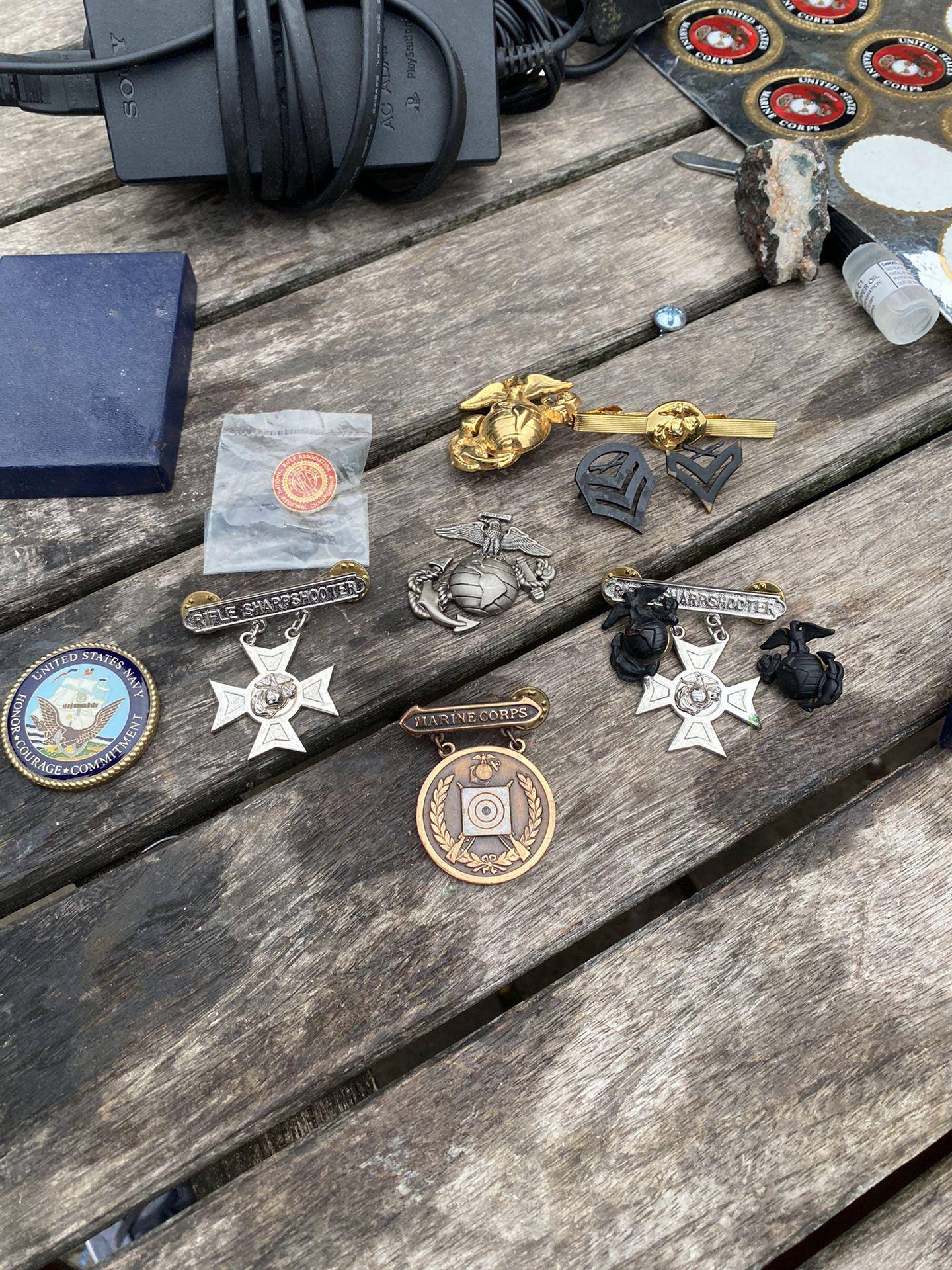 Marine corps badges