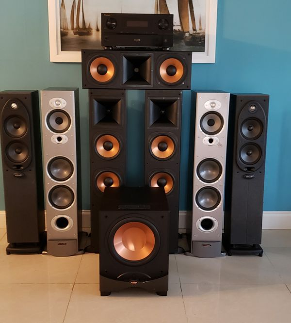 8 Speaker Home Theater Plus Pioneer Elite Sc37 Fort Lauderdale