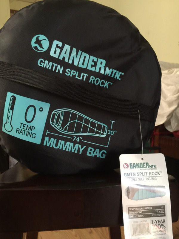 reputable site da51a 933e8 Gander Mountain Split Rock, 0 degree, mummy sleeping bag for Sale in  Cleveland, OH - OfferUp