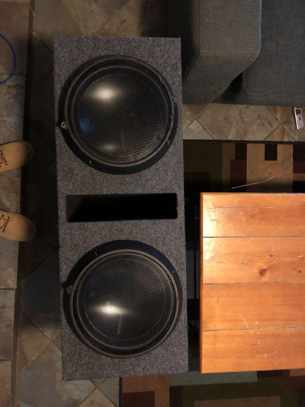 "2 12"" Rockford Fosgate T1's in ported box $550 obo  No trades for Sale in  Denver, CO - OfferUp"