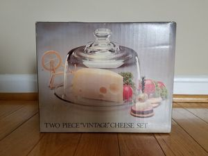 *New* Crystal two piece vintage cheese set for Sale in Centreville, VA