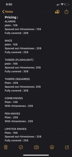 Customized self defense items Thumbnail