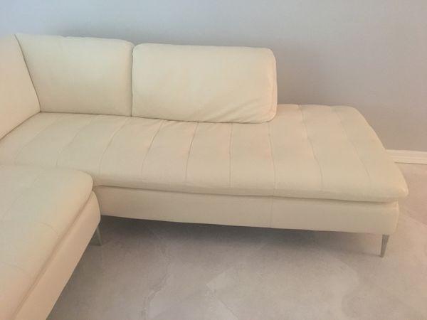 Modern White Leather Sofa Cau D Ax Corsica