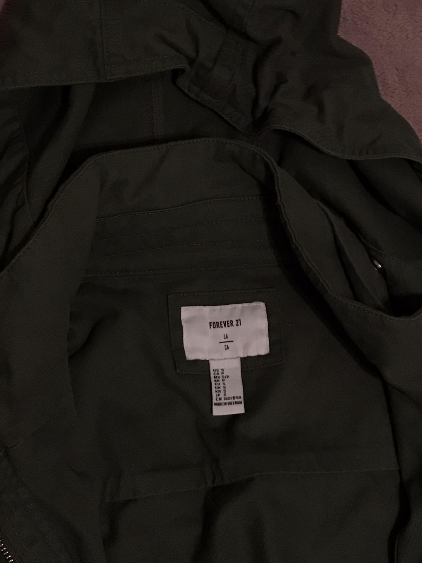 Forever 21 green coat