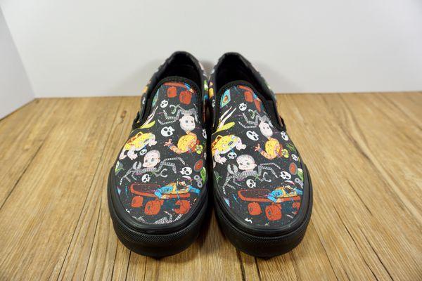 bc3b431f57d5 NWOB VANS Disney Pixar Toy Story Sids Mutant Classic Slip On Shoes Womens 7