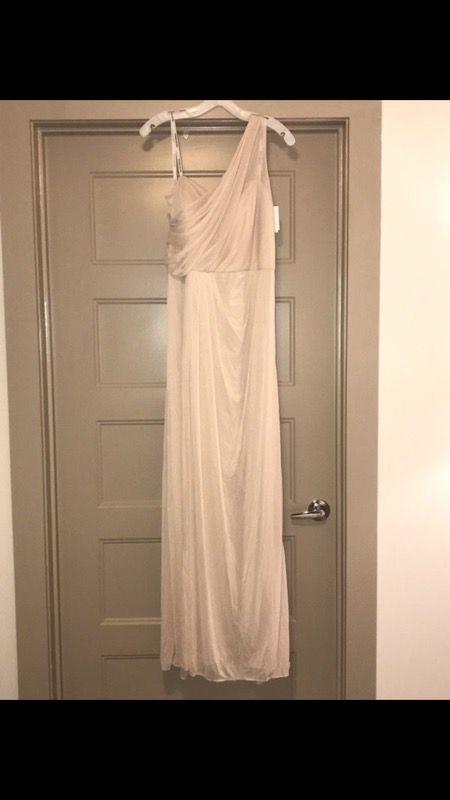 fa4167a3e7 David s Bridal Champagne Bridesmaid dress - Size 18 - NEW never worn ...