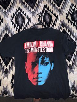 T shirt Eminem x Rihanna tour tee size M Thumbnail