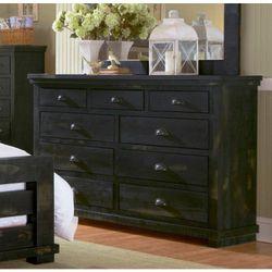 Progressive P612-23 Willow Distressed Black Drawer Dresser Thumbnail