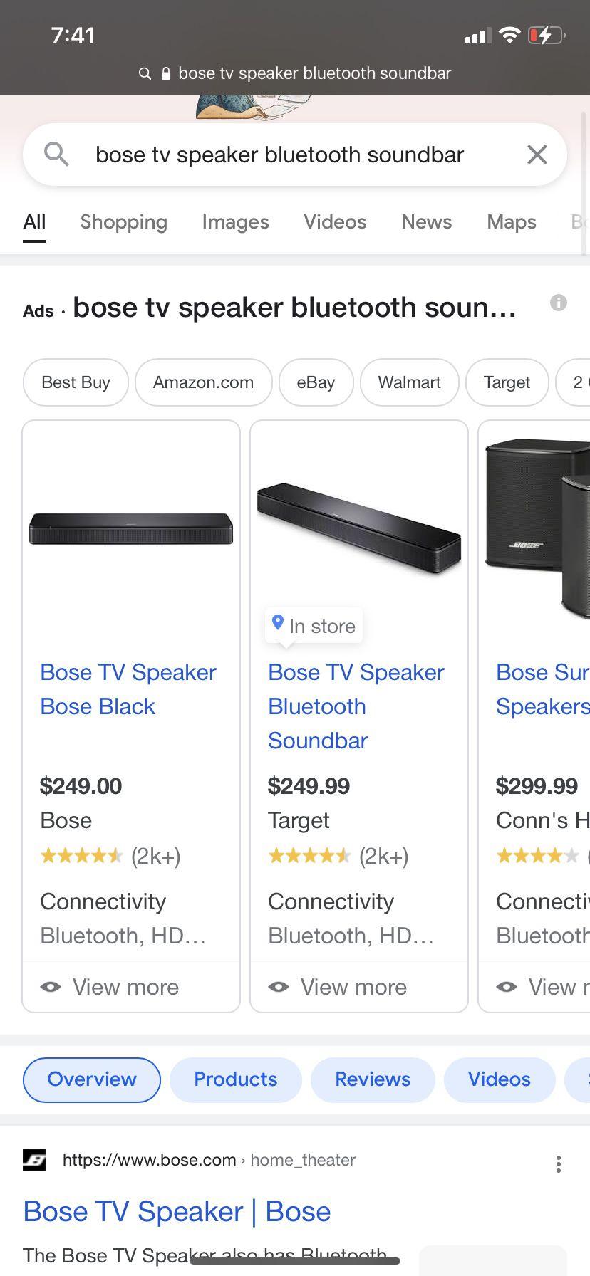 Bose Tv Speaker Bluetooth Soundbar