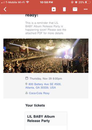 Lil baby tickets for Sale in Atlanta, GA