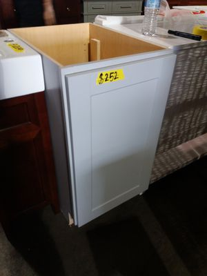 HAMPTON BAY 18x34.5x24in. Pull out Trash Can Base Kitchen Cabinet in Gray for Sale in Phoenix, AZ