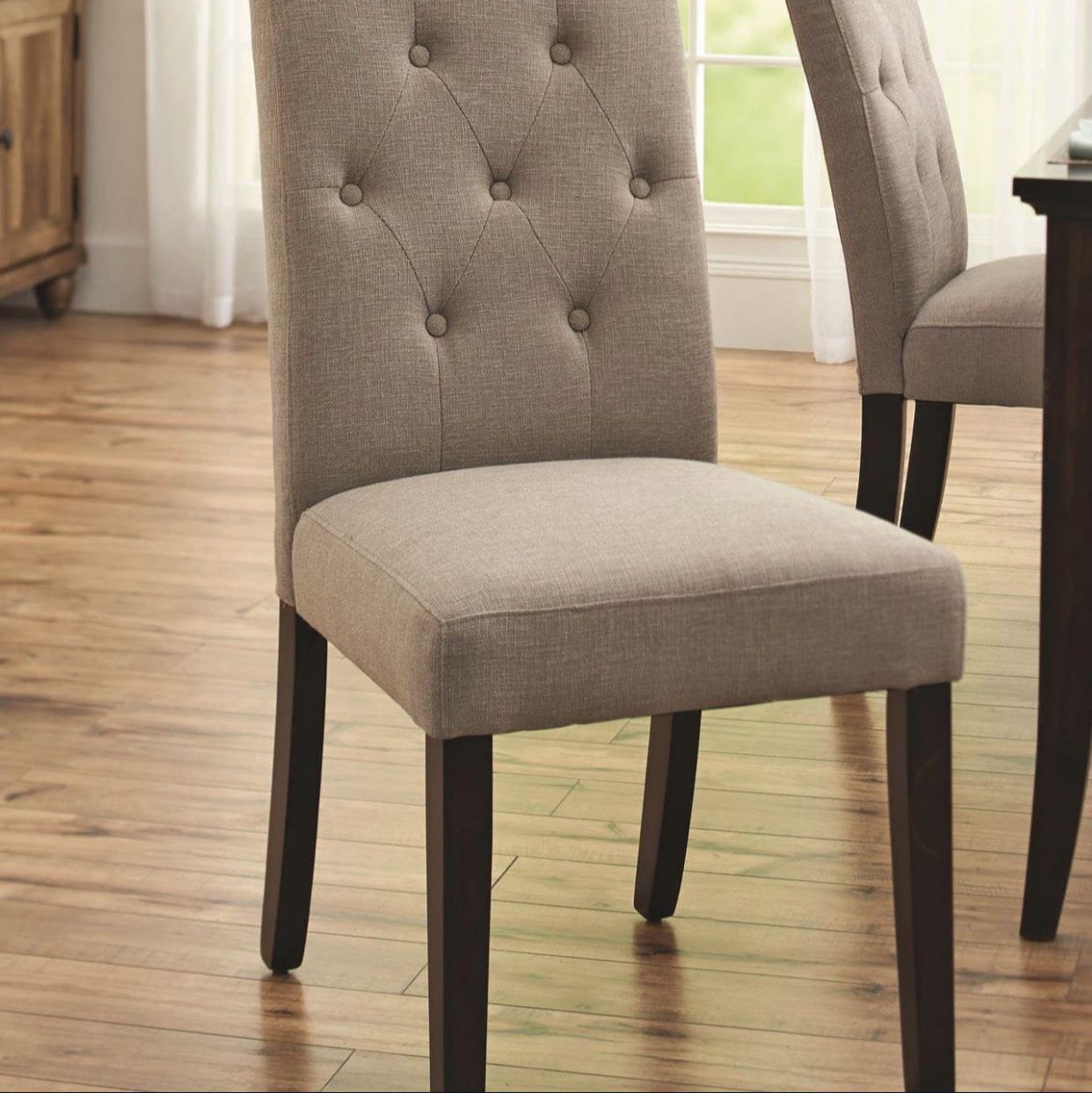 Brand New Contemporary Upholstered Tufted Dining Side Chair