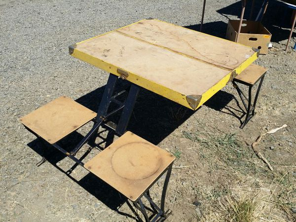 Vintage handy folding kids picnic table and chairs hunting camping vintage handy folding kids picnic table and chairs hunting camping for sale in salem or offerup watchthetrailerfo