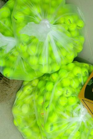 Photo Over 100 Used Tennis Balls