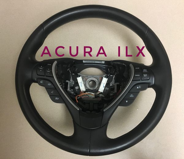 Acura ILX Parts OEM Black Leather Steering Wheel For Sale