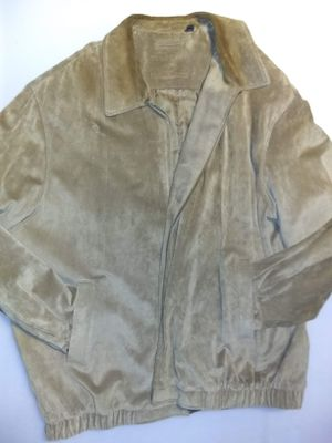 Photo Roundtree and Yorke brown suede zip up coat size 3XL