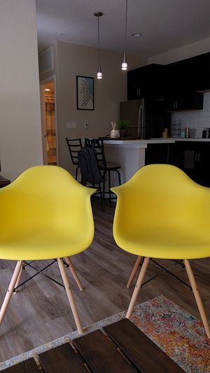 Yellow Side Chairs (2) for Sale in Denver, CO
