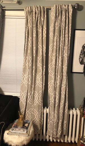 Two decorative printed window panels 54in x 84in for Sale in Washington, DC