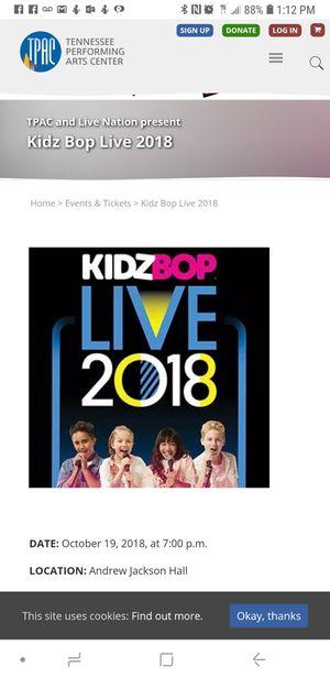 Kidzbop concert for Sale in Murfreesboro, TN