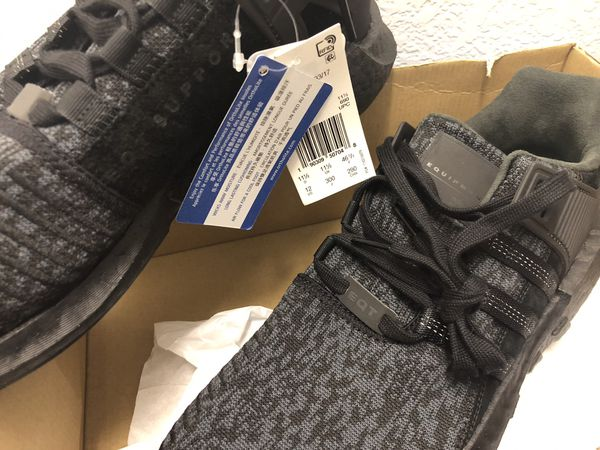 d76477381 Adidas Originals EQT Support 93 17 Boost Triple Black BY9512 Size 12 ...