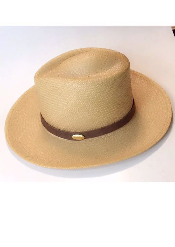 c63a6aeace6 Barmah Natural Crushable Straw Panama Hat Fedora Sun Made In