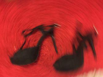 Shoe, black lace, size 6.5 Thumbnail