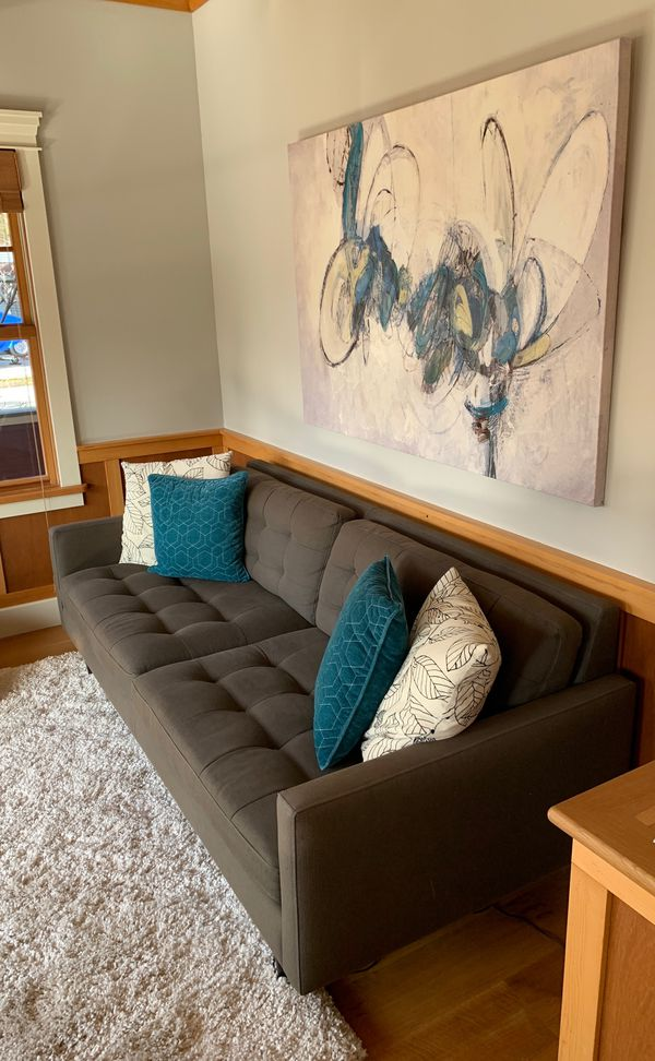 Awesome Crate And Barrel Midcentury Petrie Sofa And Two Chairs Pabps2019 Chair Design Images Pabps2019Com