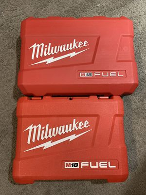 """Photo Milwaukee Fuel M18 Cases for Sawzall and Hammer Drill (1/2"""") NO TOOLS INCLUDED"""