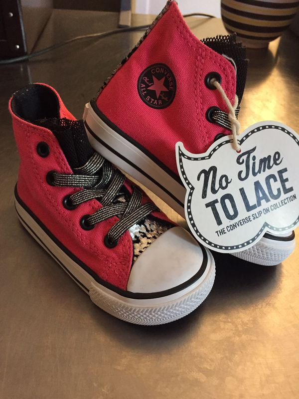 539a5d12cc21bc All star converse toddler size 8 no lace for Sale in Atlanta