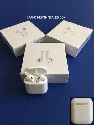 Photo Airpods gen 2 with wireless charging case supercopy, earphones, earbuds (NEW IN SEALED BOX) pop up animation iOS, smart sensor, rename & gps location