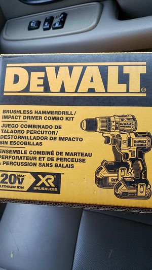 Dewalt 20v XR Brushless Hammer Drill & Impact Combo for Sale in Saint Charles, MO