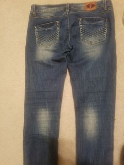 Jeans skinny pants patches distressed 30 Thumbnail