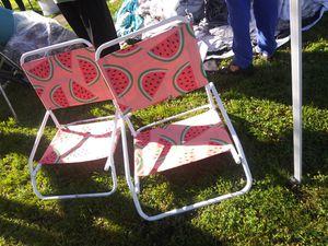 Photo Pair of beach chairs