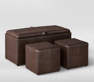 Leather Storage Ottoman Set for Sale in Falls Church, VA