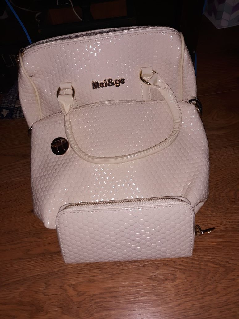Brand new set of purse, mini bag, and wallet
