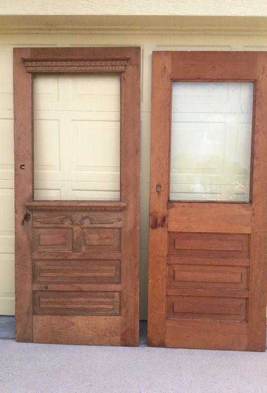 Antique Vintage 1800s Solid Wood Doors