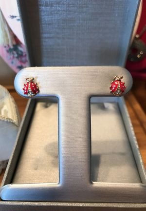 Pretty Lady Bug Earrings with Crystal Diamond Stones. for Sale in Gainesville, VA