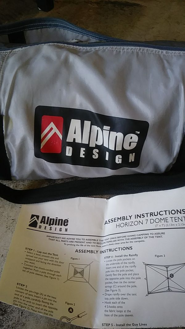 New Alpine Design Horizon 7 Dome Tent For Sale In Carlsbad Ca Offerup