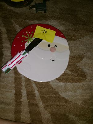 Free with purchase: Small Christmas plate and knife. for Sale in Gilbert, AZ