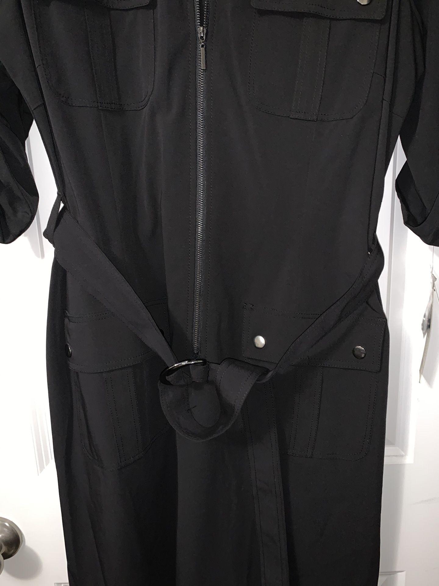 ROSS Black tie-waist Dress