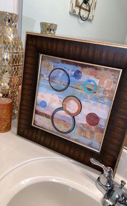 A set of two beautifully framed wall art. 55 Thumbnail