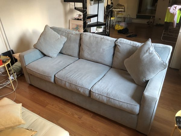 Excellent Macys 3 Seater Grey Slate Blue Couch For Sale In Machost Co Dining Chair Design Ideas Machostcouk